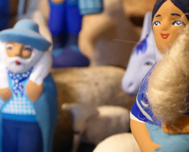 Los belenes y santones © Santons bleus