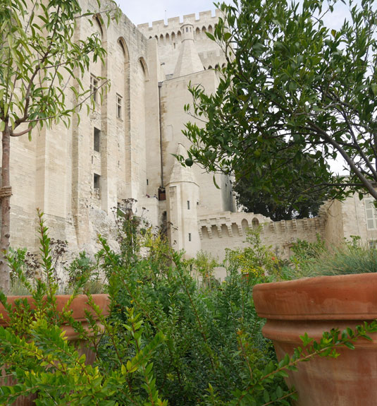 Jardín Urbano V en el Palacio papal