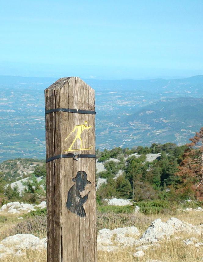 el sendero Jean-Henri Fabre, en el Mont Ventoux
